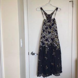 Flowy floral midi dress